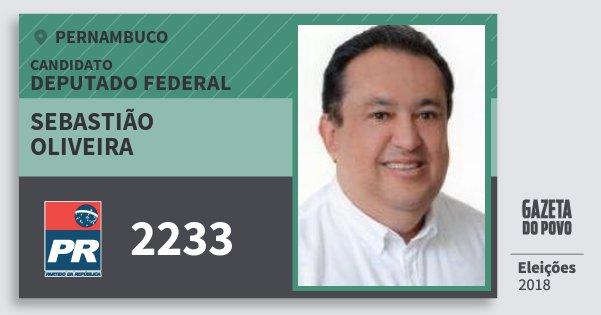 Santinho Sebastião Oliveira 2233 (PR) Deputado Federal | Pernambuco | Eleições 2018