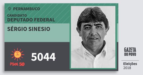 Santinho Sérgio Sinesio 5044 (PSOL) Deputado Federal | Pernambuco | Eleições 2018