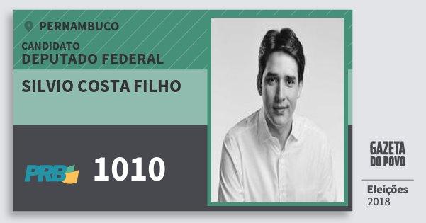 Santinho Silvio Costa Filho 1010 (PRB) Deputado Federal | Pernambuco | Eleições 2018