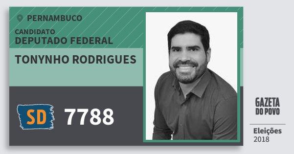 Santinho Tonynho Rodrigues 7788 (SOLIDARIEDADE) Deputado Federal | Pernambuco | Eleições 2018