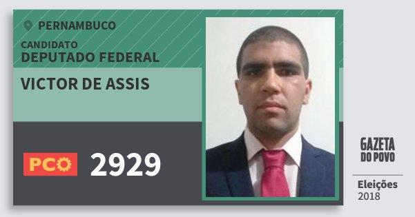 Santinho Victor de Assis 2929 (PCO) Deputado Federal | Pernambuco | Eleições 2018