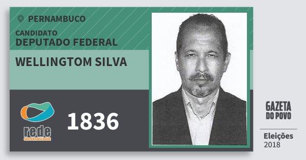 Santinho Wellingtom Silva 1836 (REDE) Deputado Federal | Pernambuco | Eleições 2018