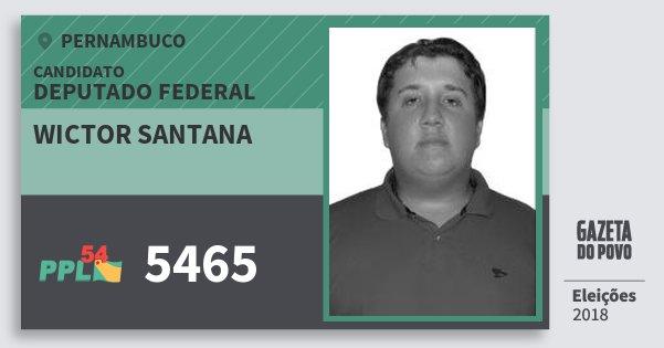 Santinho Wictor Santana 5465 (PPL) Deputado Federal | Pernambuco | Eleições 2018