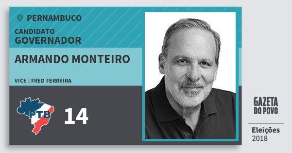 Santinho Armando Monteiro 14 (PTB) Governador | Pernambuco | Eleições 2018