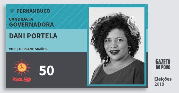 Santinho Dani Portela 50 (PSOL) Governadora | Pernambuco | Eleições 2018