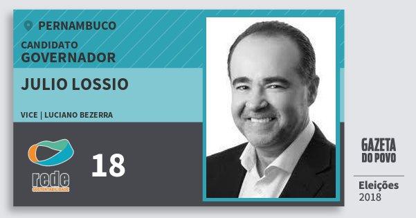 Santinho Julio Lossio 18 (REDE) Governador | Pernambuco | Eleições 2018