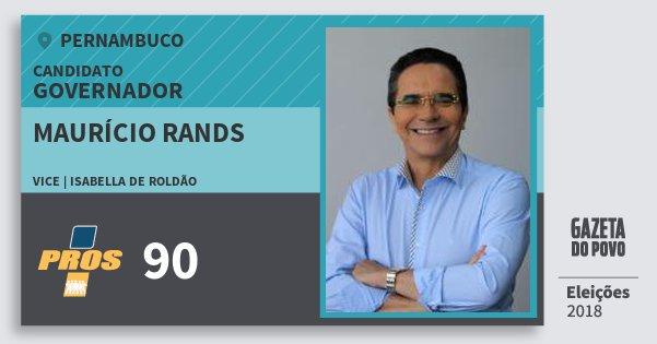Santinho Maurício Rands 90 (PROS) Governador | Pernambuco | Eleições 2018
