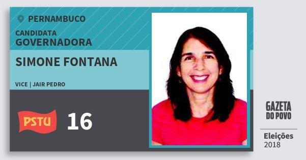 Santinho Simone Fontana 16 (PSTU) Governadora | Pernambuco | Eleições 2018