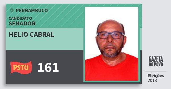 Santinho Helio Cabral 161 (PSTU) Senador | Pernambuco | Eleições 2018