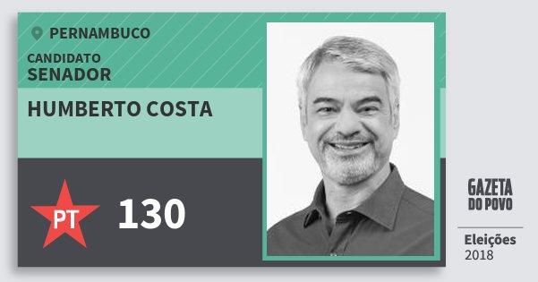 Santinho Humberto Costa 130 (PT) Senador | Pernambuco | Eleições 2018