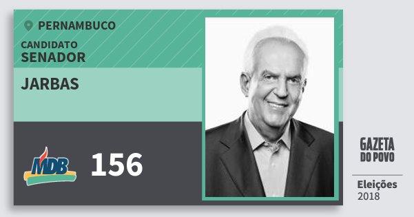 Santinho Jarbas 156 (MDB) Senador   Pernambuco   Eleições 2018