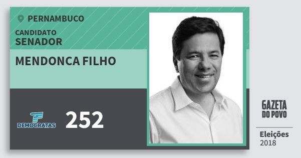 Santinho Mendonca Filho 252 (DEM) Senador | Pernambuco | Eleições 2018