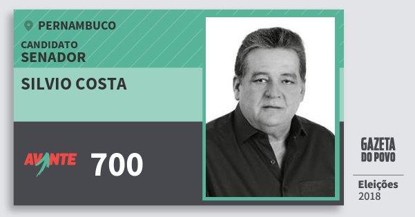 Santinho Silvio Costa 700 (AVANTE) Senador | Pernambuco | Eleições 2018
