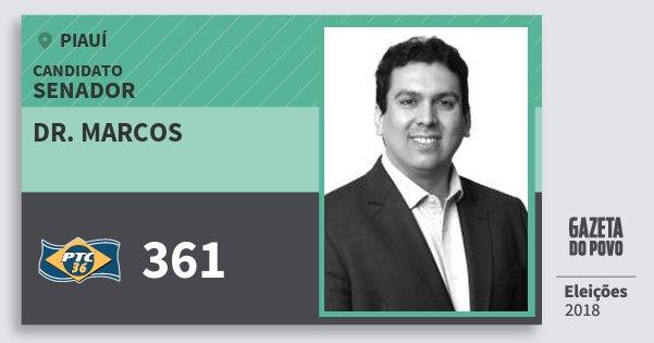 Santinho Dr. Marcos 361 (PTC) Senador | Piauí | Eleições 2018
