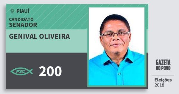 Santinho Genival Oliveira 200 (PSC) Senador | Piauí | Eleições 2018