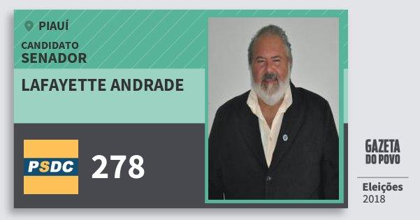 Santinho Lafayette Andrade 278 (DC) Senador | Piauí | Eleições 2018