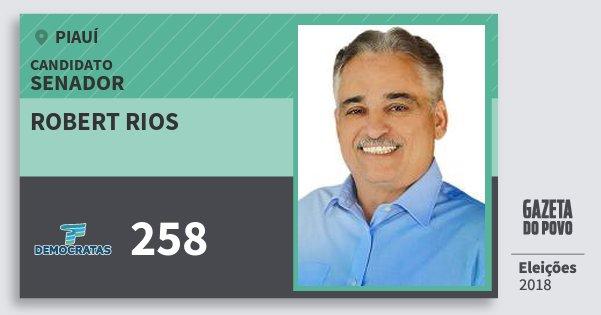 Santinho Robert Rios 258 (DEM) Senador | Piauí | Eleições 2018