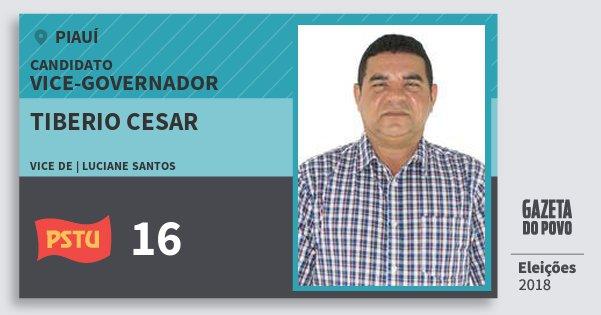 Santinho Tiberio Cesar 16 (PSTU) Vice-governador | Piauí | Eleições 2018