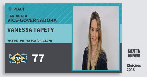 Santinho Vanessa Tapety 77 (PTC) Vice-Governadora | Piauí | Eleições 2018