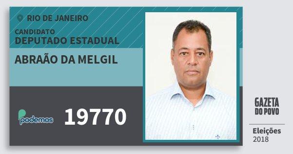 Santinho Abraão da Melgil 19770 (PODE) Deputado Estadual | Rio de Janeiro | Eleições 2018