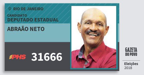 Santinho Abraão Neto 31666 (PHS) Deputado Estadual | Rio de Janeiro | Eleições 2018