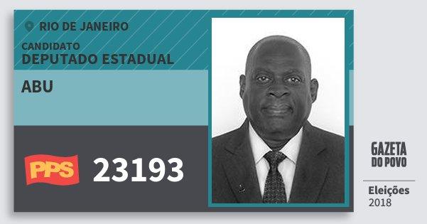 Santinho Abu 23193 (PPS) Deputado Estadual | Rio de Janeiro | Eleições 2018