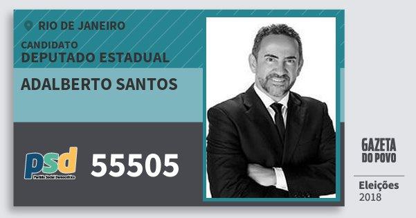 Santinho Adalberto Santos 55505 (PSD) Deputado Estadual | Rio de Janeiro | Eleições 2018
