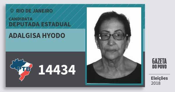 Santinho Adalgisa Hyodo 14434 (PTB) Deputada Estadual | Rio de Janeiro | Eleições 2018