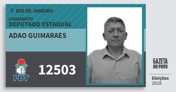Santinho Adao Guimaraes 12503 (PDT) Deputado Estadual | Rio de Janeiro | Eleições 2018
