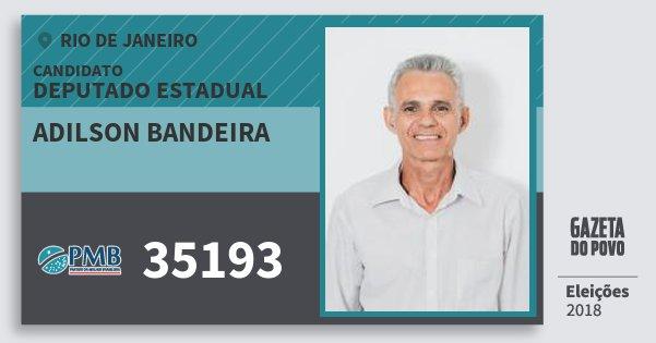 Santinho Adilson Bandeira 35193 (PMB) Deputado Estadual | Rio de Janeiro | Eleições 2018