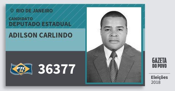Santinho Adilson Carlindo 36377 (PTC) Deputado Estadual | Rio de Janeiro | Eleições 2018