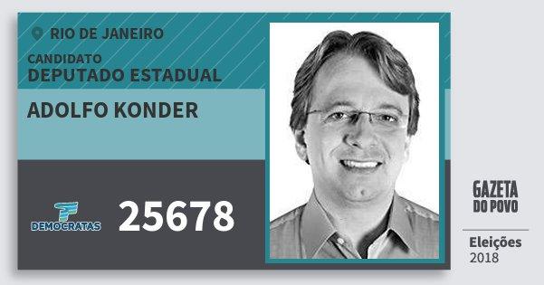 Santinho Adolfo Konder 25678 (DEM) Deputado Estadual | Rio de Janeiro | Eleições 2018