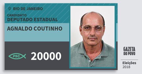 Santinho Agnaldo Coutinho 20000 (PSC) Deputado Estadual | Rio de Janeiro | Eleições 2018
