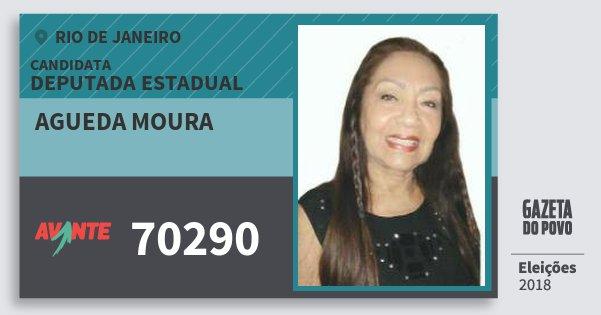 Santinho Agueda Moura 70290 (AVANTE) Deputada Estadual | Rio de Janeiro | Eleições 2018
