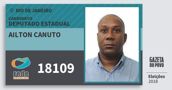 Santinho Ailton Canuto 18109 (REDE) Deputado Estadual | Rio de Janeiro | Eleições 2018