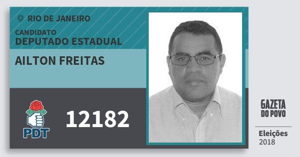 Santinho Ailton Freitas 12182 (PDT) Deputado Estadual | Rio de Janeiro | Eleições 2018