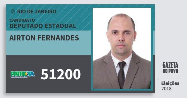 Santinho Airton Fernandes 51200 (PATRI) Deputado Estadual | Rio de Janeiro | Eleições 2018