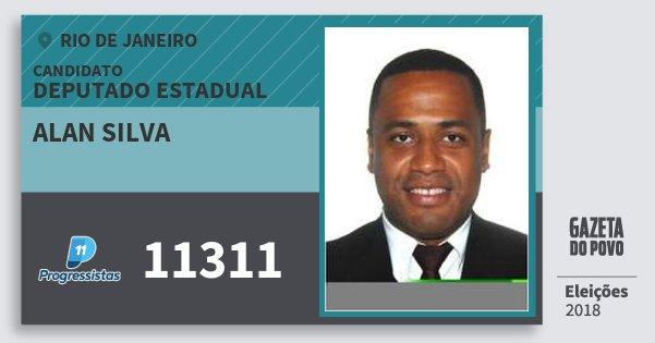 Santinho Alan Silva 11311 (PP) Deputado Estadual | Rio de Janeiro | Eleições 2018