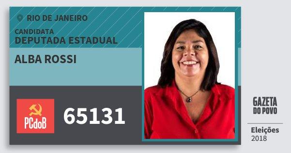 Santinho Alba Rossi 65131 (PC do B) Deputada Estadual | Rio de Janeiro | Eleições 2018