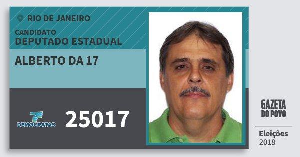 Santinho Alberto da 17 25017 (DEM) Deputado Estadual | Rio de Janeiro | Eleições 2018