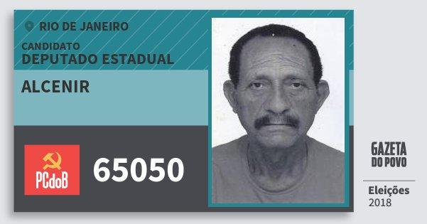 Santinho Alcenir 65050 (PC do B) Deputado Estadual | Rio de Janeiro | Eleições 2018