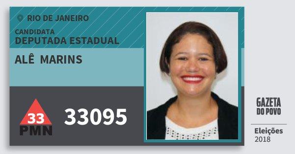 Santinho Alê  Marins 33095 (PMN) Deputada Estadual | Rio de Janeiro | Eleições 2018