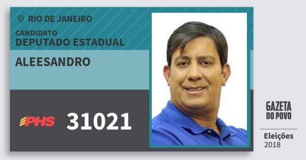 Santinho Aleesandro 31021 (PHS) Deputado Estadual | Rio de Janeiro | Eleições 2018