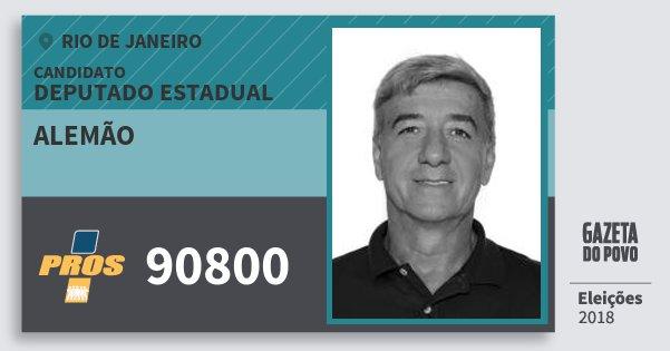 Santinho Alemão 90800 (PROS) Deputado Estadual | Rio de Janeiro | Eleições 2018