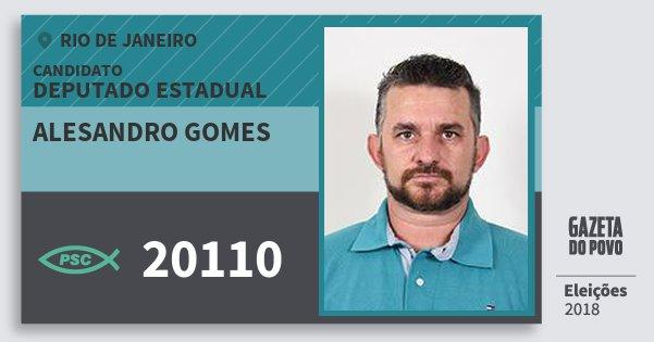 Santinho Alesandro Gomes 20110 (PSC) Deputado Estadual | Rio de Janeiro | Eleições 2018