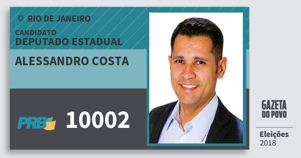 Santinho Alessandro Costa 10002 (PRB) Deputado Estadual | Rio de Janeiro | Eleições 2018