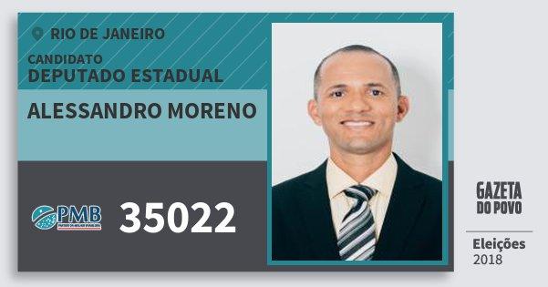 Santinho Alessandro Moreno 35022 (PMB) Deputado Estadual   Rio de Janeiro   Eleições 2018