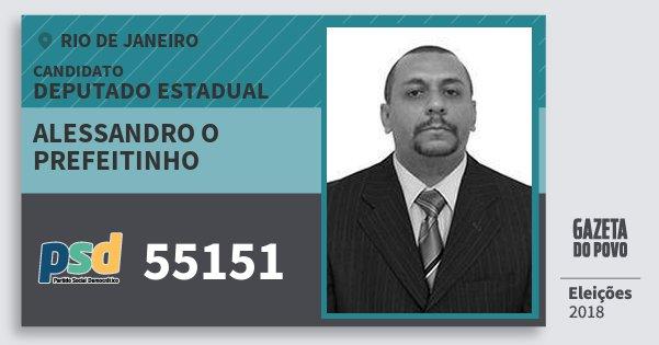 Santinho Alessandro O Prefeitinho 55151 (PSD) Deputado Estadual | Rio de Janeiro | Eleições 2018
