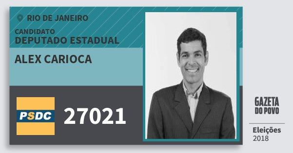 Santinho Alex Carioca 27021 (DC) Deputado Estadual | Rio de Janeiro | Eleições 2018