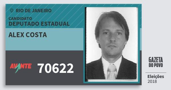 Santinho Alex Costa 70622 (AVANTE) Deputado Estadual | Rio de Janeiro | Eleições 2018